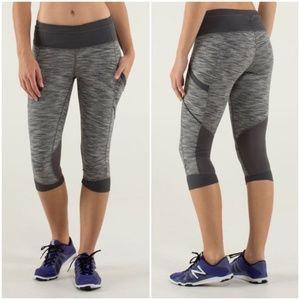 LULULEMON gray Run for Fun Leggings 8 wee space